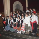 El Grup de Caramellaires fent un petit concert acabada la Missa.